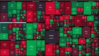 نقشه بورس امروز بر اساس ارزش معاملات/ تعادل نسبی در آغاز معاملات امروز