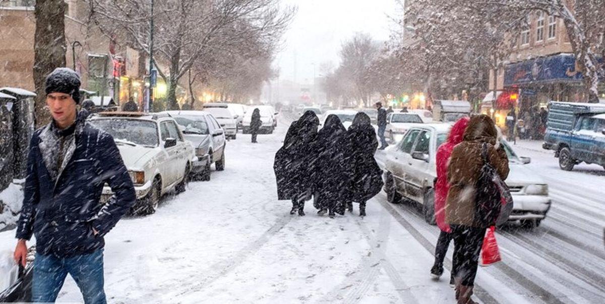 بارش برف و باران فردا در غرب