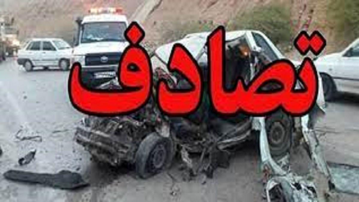 یک کشته و ۸مصدوم بر اثر تصادف دو دستگاه پراید