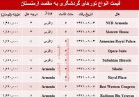هزینه سفر به ارمنستان در نوروز ۹۶ چقدر است؟ +جدول