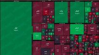 نقشه بورس امروز بر اساس ارزش معاملات/ همان آش و همان کاسه