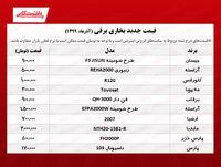 قیمت جدید بخاری برقی +جدول
