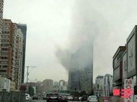 آتش گرفتن برج ترامپ در باکو +فیلم