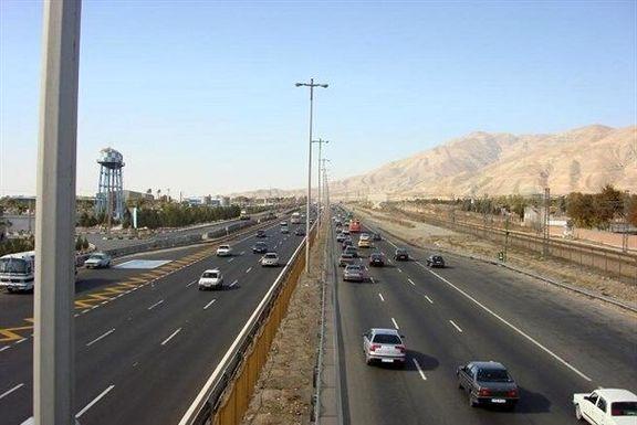 ترافیک سنگین در آزادراه قزوین-رشت