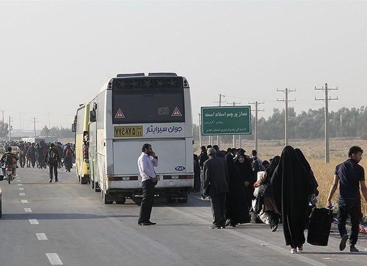 کرایه اتوبوس تهران تا مرز مهران چقدر است؟