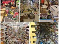 وضعیت فروشگاهها پس از زلزله شب گذشته در کالیفرنیا +عکس