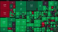 نقشه بورس امروز بر اساس ارزش معاملات/ شاخص کل، هفته جدید را مثبت آغاز کرد