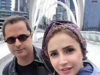 عکس یادگاری شبنم قلی خانی و همسرش در استرالیا