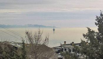 برج میلاد غرق در مِه! +عکس