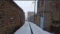 بارش برف بهاری در آذربایجان شرقی +فیلم
