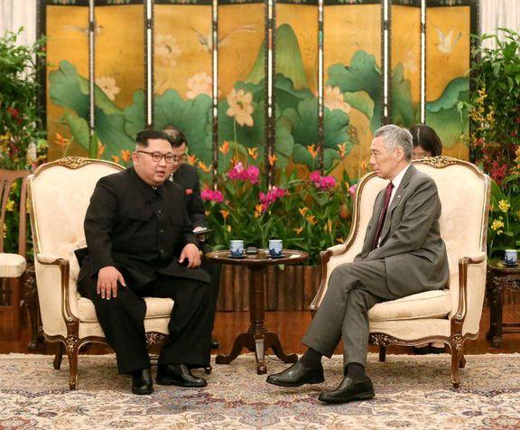 دیدار جداگانه نخست وزیر سنگاپور با ترامپ و اون