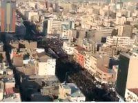 خروش بیکران مردم در تهران +فیلم