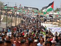 برگزاری راهپیمایی روز نکبت درفلسطین +تصاویر