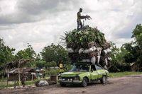 روش عجیب حمل بار در کنگو +عکس