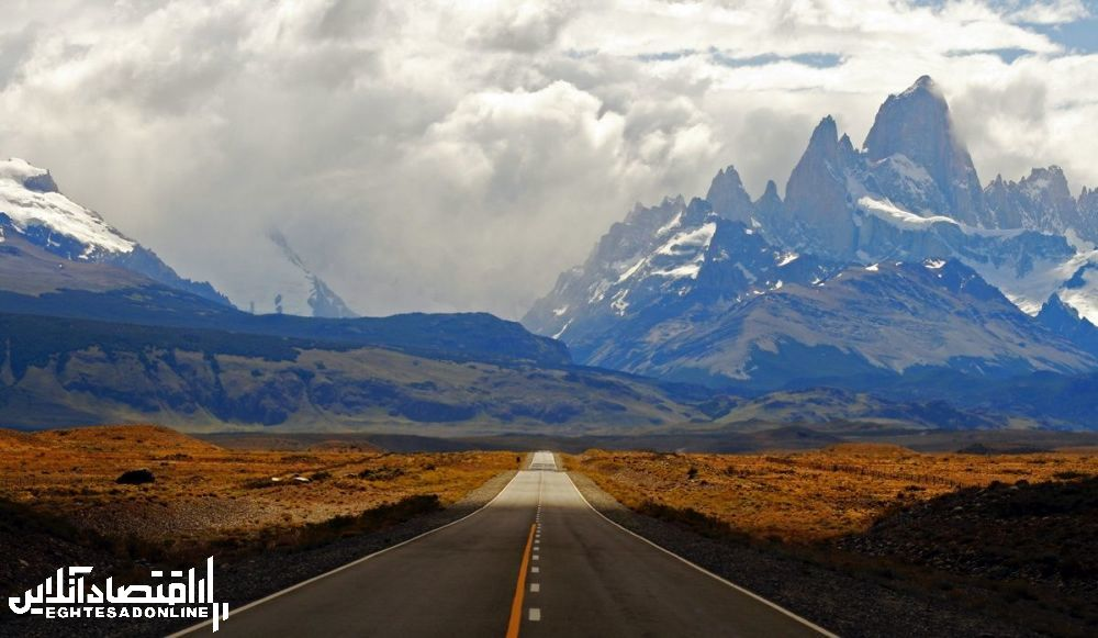 منظره کوهستانی آرژانتین.