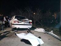 جوان ۲۱ساله در تصادف بزرگراه رسالت کشته شد +عکس