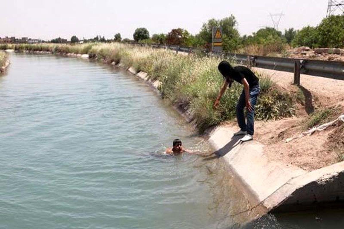 کانال آب جان ۲جوان را در بهبهان گرفت