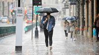 پیش بینی بارش باران و تگرگ در تهران