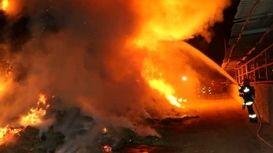 آتشسوزی مهیب در شهرک صنعتی شکوهیه قم