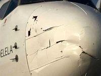 اثرات برخورد پهپاد با هواپیما +تصاویر
