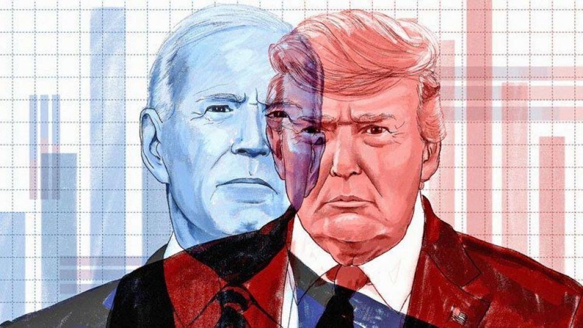 آخرین وضعیت رقابت انتخاباتی میان ترامپ و بایدن