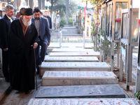 حضور رهبر معظم انقلاب در مرقد شهدای هفتم تیر +فیلم