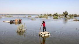 تخلیه آب از روستاهای سوسنگرد +فیلم
