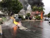 سقوط هواپیما روی ویلای مسکونی ۵ کشته برجای گذاشت +تصاویر