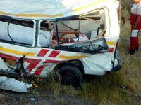 واژگونی آمبولانس و جانباختن ۳ نفر +عکس