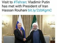 توییت ریاست فدراسیون روسیه از دیدار پوتین و روحانی +عکس