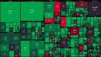 نقشه بورس امروز بر اساس ارزش معاملات/ شاخص کل تخته گاز پیشروی میکند