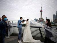 ازدواج به سبک کرونایی +عکس