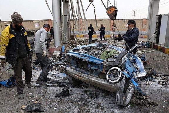 انفجار وانت در قزوین یک کشته برجای گذاشت
