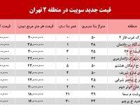 سوییت در منطقه دو تهران چند؟ +جدول
