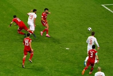 تصاویر منتخب بازی ایران و اسپانیا در جامجهانی 2018