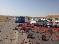 ۳ کشته حاصل تصادف در جاده قدیم ساوه-همدان +عکس