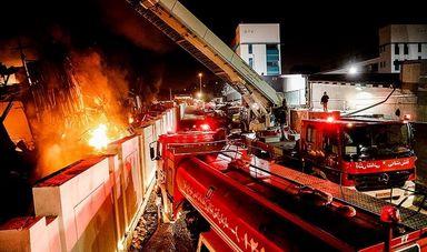 آتش سوزی انبار کالا در جاده مخصوص کرج