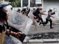 تظاهرات معترضان به انتخابات ریاست جمهوری در اندونزی +تصاویر