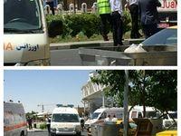 پیکر یکی از حادثهدیدگان تیراندازی مجلس +عکس