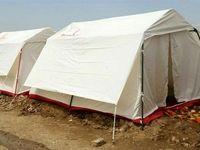 خسارت شدید طوفان به چادرهای سیل زدگان +فیلم