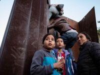 جدیدترین تصاویر از مهاجران مکزیکی در مزر آمریکا