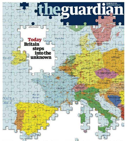 جلد نشریه «گاردین» در واکنش به خروج بریتانیا از اتحادیه اروپا +عکس
