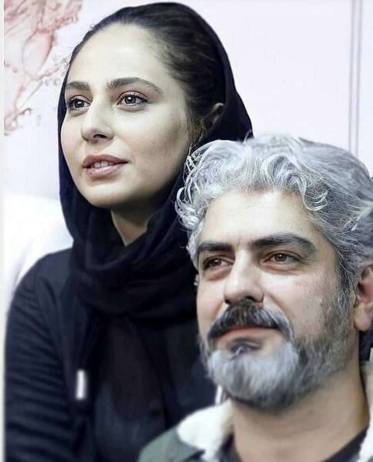 گریم دیدنی مهدی پاکدل و همسرش + عکس