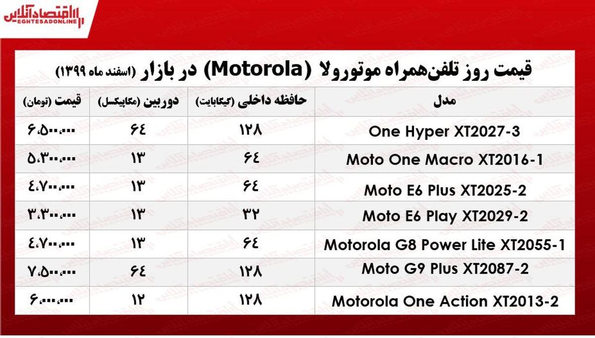 قیمت گوشی موتورولا/ ۵اسفند۹۹