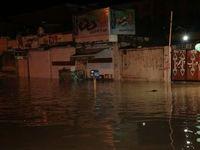 خیابانهای بندرعباس زیر آب رفت +عکس