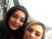 سلفی یکتا ناصر و ساره بیات در روز برفی تهران +عکس