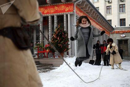 جشن وداع با زمستان در روسیه +تصاویر