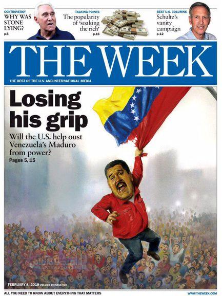 """سقوط مادورو بر روی جلد هفته نامه """"د ویک"""" +عکس"""