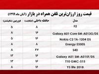 قیمت ارزانترین موبایلهای بازار  +جـدول