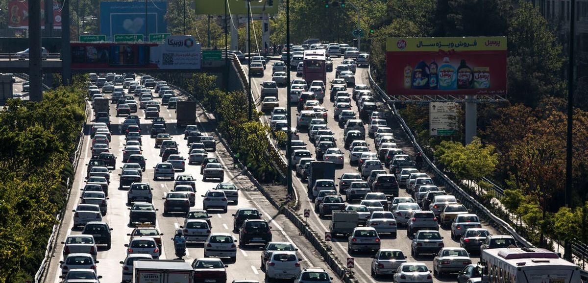 افزایش ۷۰درصدی ترافیک تهران نسبت به روزهای عادی